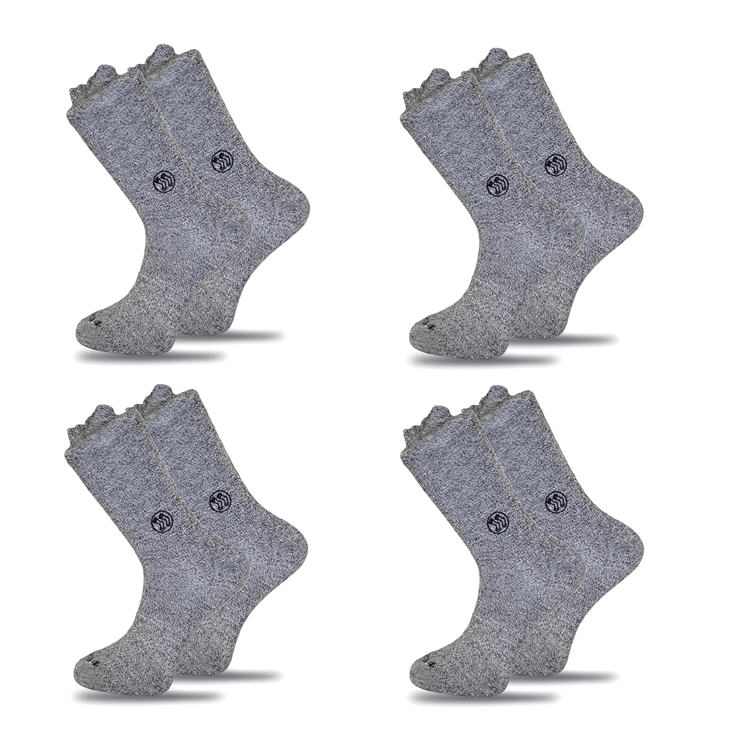 4x Pack Homeless Grey Twisted Cotton Sock