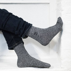 8x Pack Homeless Grey Twisted Cotton Sock