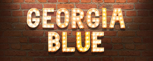 Georgia Blue Retro Header for Mobile