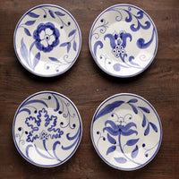 Floral Plate Blue White - Genevieve Bond Gifts