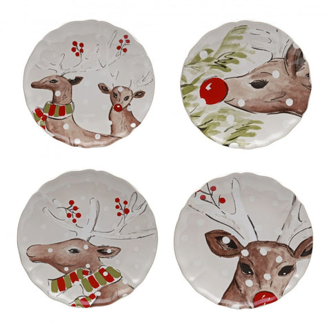 Casafina - Deer Friends - White Dessert Plate Set