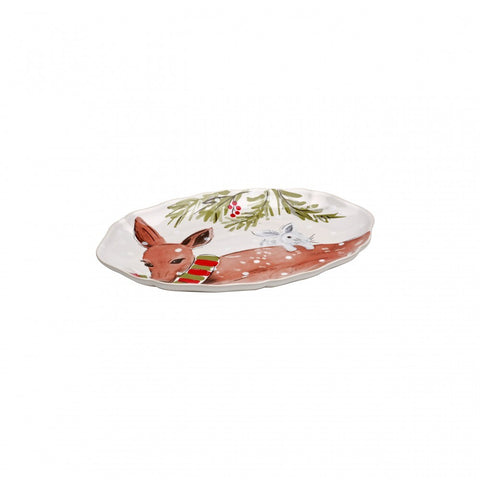 Casafina - Deer Friends - White Oval Platter