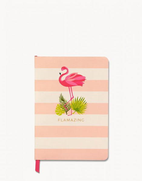 FLAMINGO FLORAL RULED NOTEBOOK - FINAL SALE