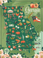 True South Puzzle GEORGIA STATE MAP