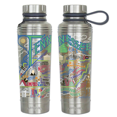 Cat Studio 18oz Stainless Water Bottle - Tennessee