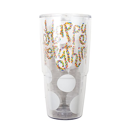 Happy Everything White Dot Tervis Tumbler, 24 oz