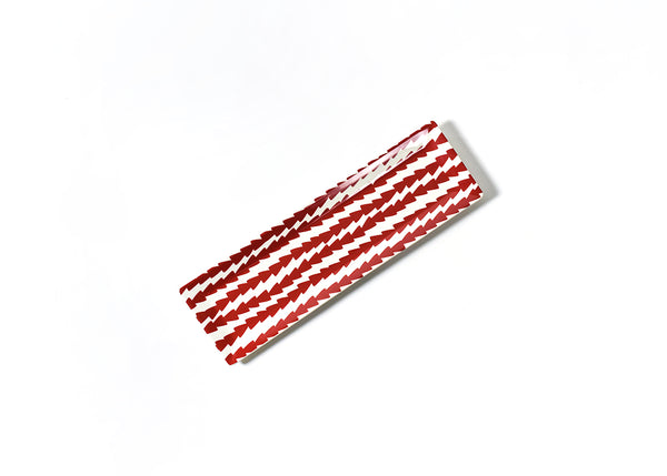 Red Dart Skinny Rectangle Tray
