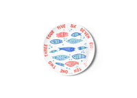 Under The Sea Fish Word Collage Melamine Dinner Plate