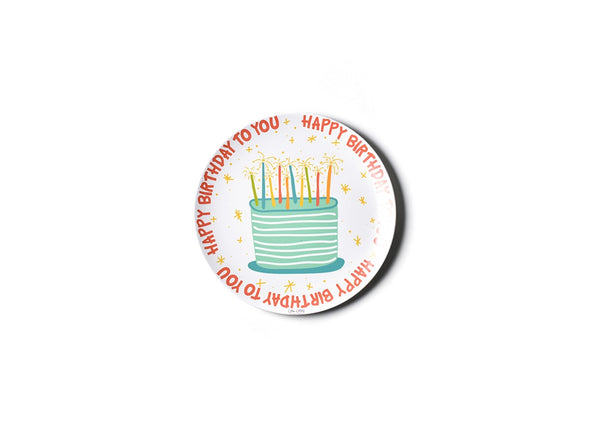 Coton Colors Melamine Dinner Plate BIRTHDAY BOY