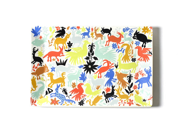Restored Retro Otomi Rectangle Platter