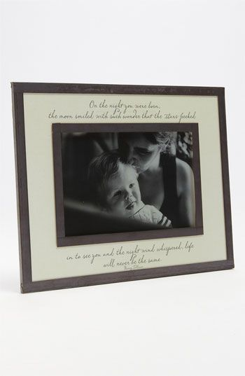 ON THE NIGHT YOU WERE BORN Copper & Glass Photo Frame