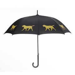 Labrador Retriever Umbrella Yellow on Black