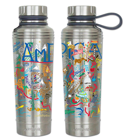 Cat Studio Thermal Water Bottle - America