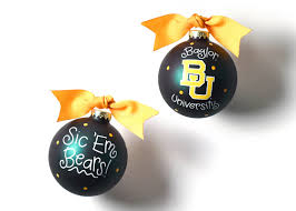 Coton Colors RETIRED Glass Ball Ornament BAYLOR UNIVERSITY ~ SALE!
