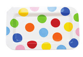 Coton Colors Rectangular Platter BRIGHT DOT RETIRED