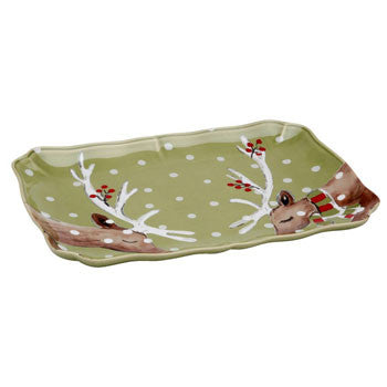Rectangular Platter, Green - Genevieve Bond Gifts