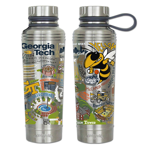 Cat Studio 18oz Stainless Water Bottle - Georgia Tech