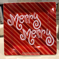 Coton Colors RETIRED Square Platter MERRY MERRY