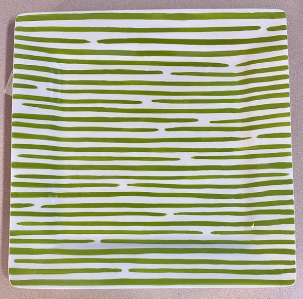Coton Colors Square Platter STITCH GREEN