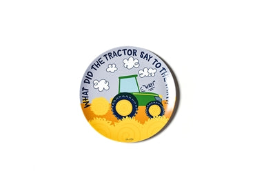 On The Farm Melamine Dinner Plate - Tractor