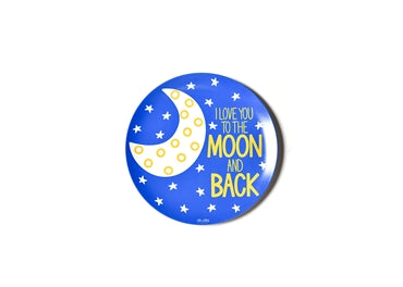 Coton Colors Melamine Dinner Plate LOVE YOU TO THE MOON