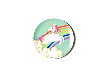 Unicorn Melamine Dinner Plate - Rainbow