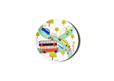 Around The World Melamine Dinner Plate - Cars