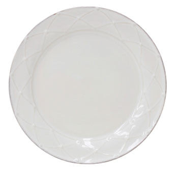 Meridian - Rnd. Salad Plate, Decor., Cream - Genevieve Bond Gifts