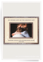 GREATEST GIFT MY FATHER Copper & Glass Photo Frame