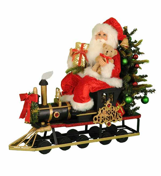 LIGHTED TRAIN SANTA