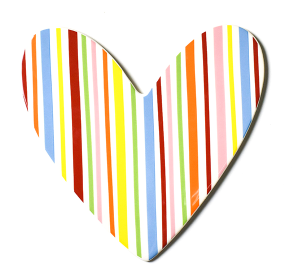 Coton Colors RETIRED Big Attachment STRIPE HEART