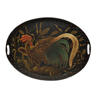 Oval Tray, Le Coq D' Or - Genevieve Bond Gifts