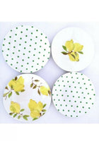 Lemon Melamine Tidbit Plates Set (4)