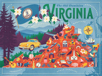 True South Puzzle VIRGINIA STATE MAP