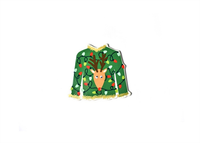 Coton Colors Big Attachment UGLY SWEATER Happy Holiday Party 2019