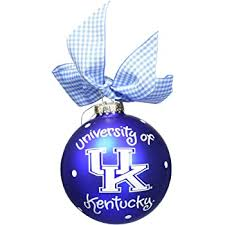 Coton Colors RETIRED Glass Ball Ornament UNIVERSITY OF KENTUCKY~ SALE!
