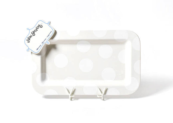 Coton Colors Rect Platter Now Serving Attachment WHITE DOT RETIRED