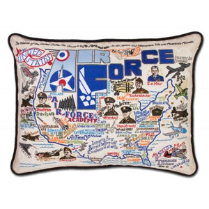 Cat Studio Embroidered Pillow - Air Force