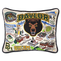 Catstudio Baylor University Collegiate Embroidered Pillow