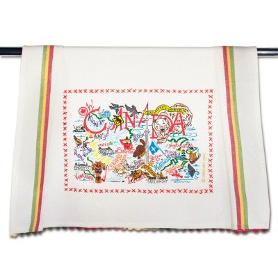 Cat Studio Embroidered Dish Towel - Canada