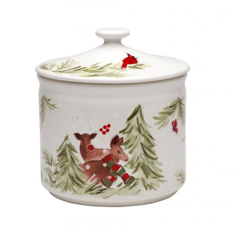 Casafina - Deer Friends - Linen Cookie Jar