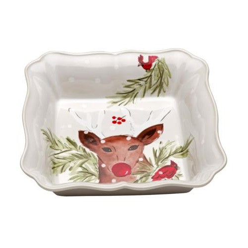 Casafina - Deer Friends - White Square Baker