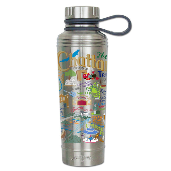 Cat Studio Stainless Water Bottle CHATTANOOGA