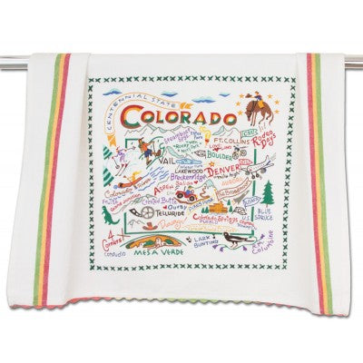 Cat Studio Embroidered Dish Towel - Colorado