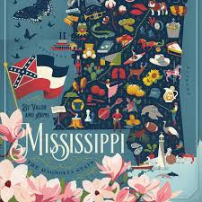 True South Puzzle MISSISSIPPI State Map