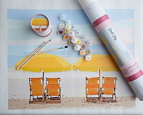 Paint by Number Kit BEACH BLISS
