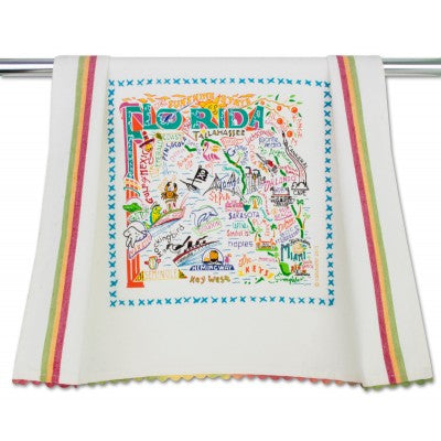 Cat Studio Embroidered Dish Towel - Florida