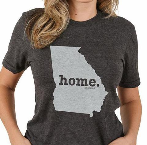 Home T Crew Neck Tee GA Large Grey