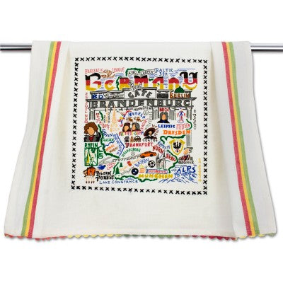 Cat Studio Embroidered Dish Towel - Germany