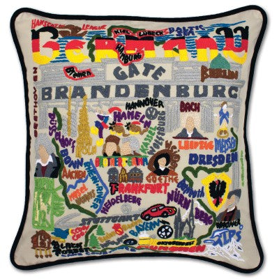 Cat Studio Embroidered Pillow - Germany